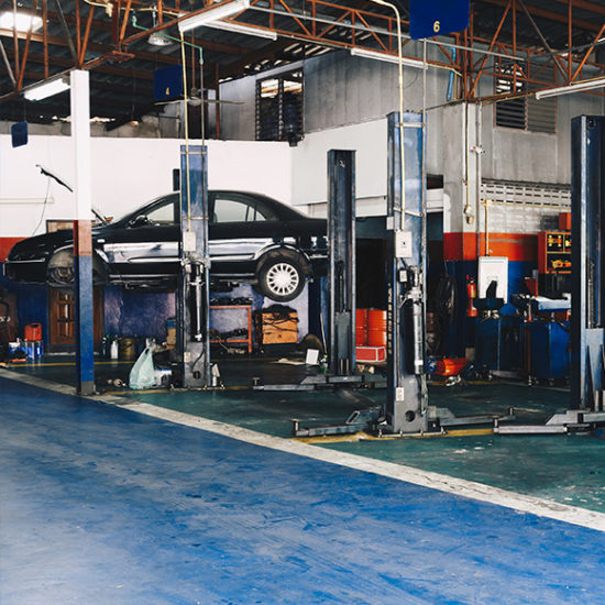Mechanics repair workshop promoting commercial insurance in Hexham